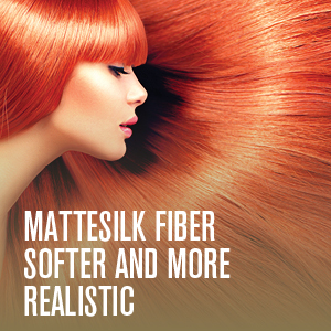 Our MatteSilk Fiber Is Softer And More Realistic. You Will Be Amazed How Real Your Wig Looks On You!