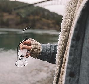 Amazon.com: Marco para anteojos transparentes redondos de ...