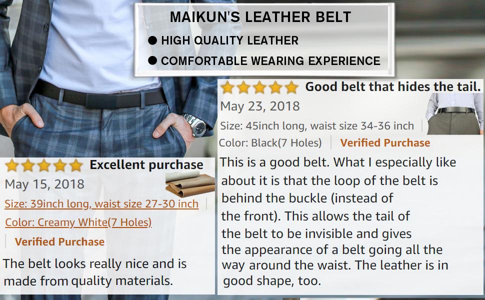 maikun's high quality leather belt