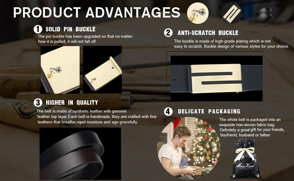 advantages of leather belt