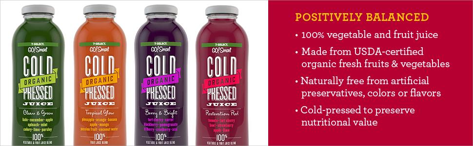 7-Select Organic Cold Pressed Juice - Restoration Red (14 Oz, 6-Pack)