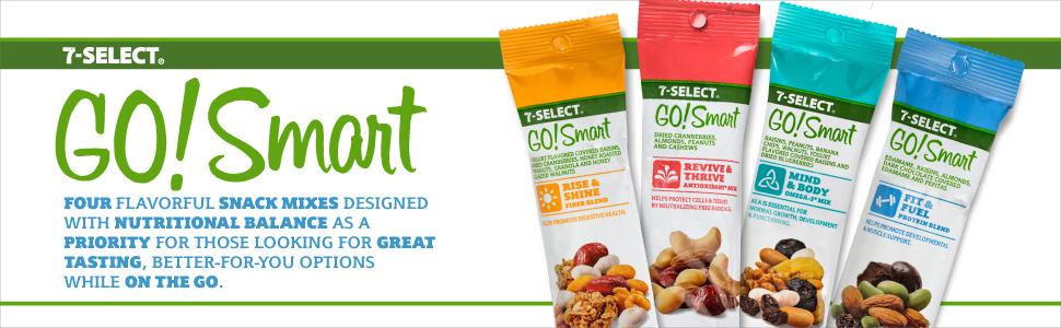 7- Select GO!Smart Snack Nut & Fruit Blends, 2.5 oz, (9 ...