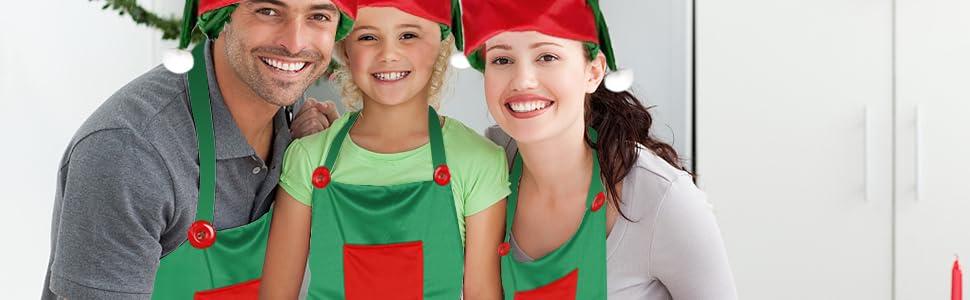 Elf Apron Christmas Elves Apron Santa Elf Hats
