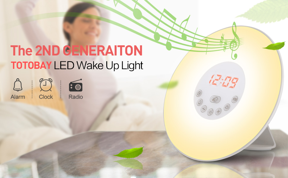 Amazon.com: totobay Wake Up Light, {2nd Generation ...