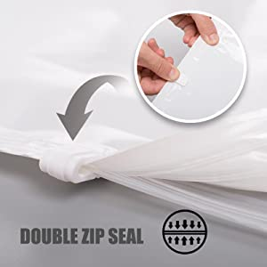 double zip seal extra thick airtight slide clip vacuum storage bag
