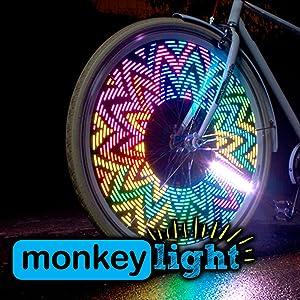 Amazon Com Monkey Light M232 200 Lumen Bike Wheel