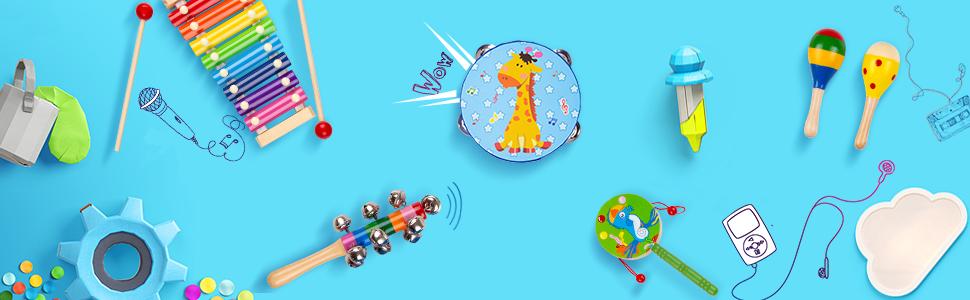 Amazon.com: Buself Instrumentos de Percusión de Madera ...