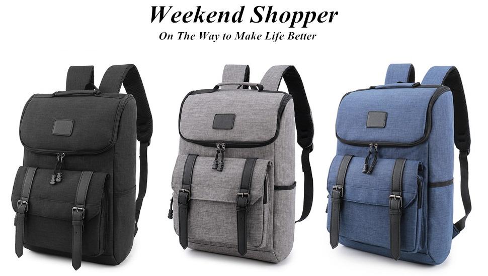 cce22a2b156d Weekend Shopper Lightweight Travel Backpack School Bag laptop backpack  Daypack GRAY