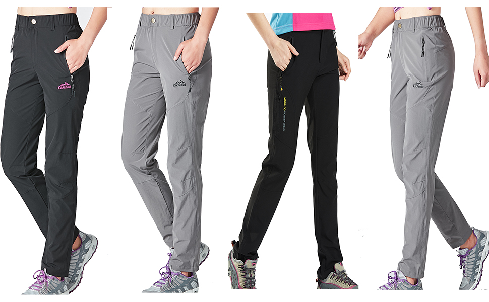 Women's Outdoor Quick Drying Camping Hiking Pants Breathable Casual Pants