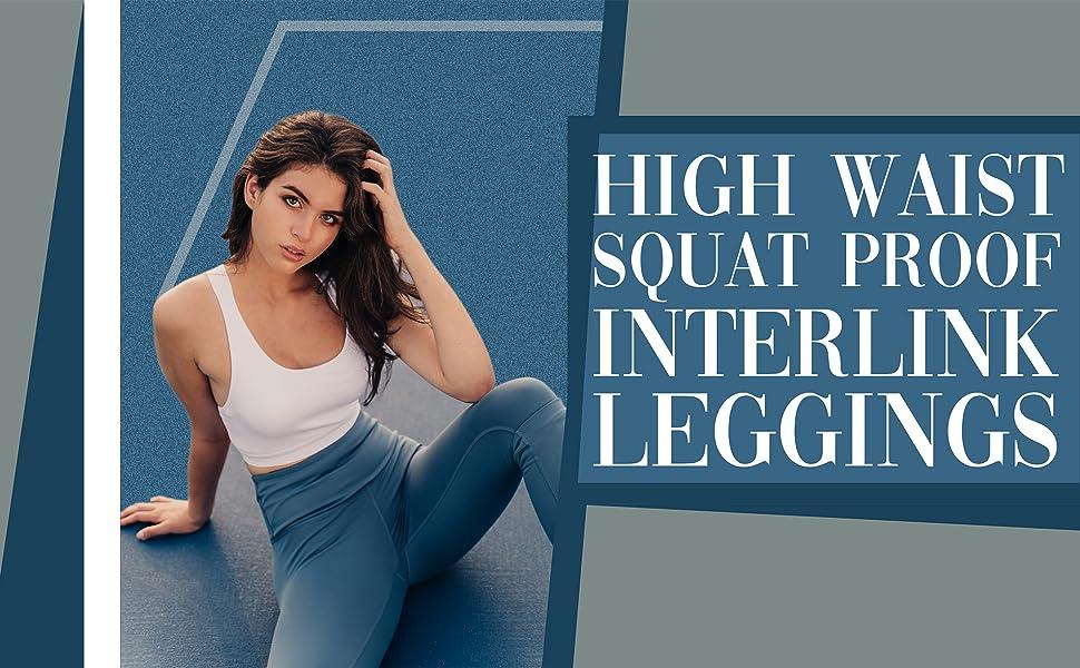 High Waist Squat Proof Interlink Legging