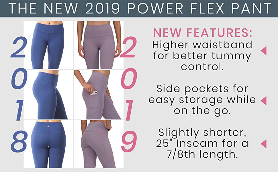 16008d900e5a6b Amazon.com: 90 Degree By Reflex Womens Power Flex Yoga Pants: Clothing
