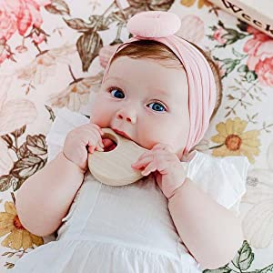 infant teething relief natural teether organic paci binky holder leash clip wooden animals bird toys
