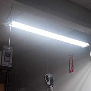 Maxxima 4 Ft Utility Led Shop Light Fixture 40 Watt