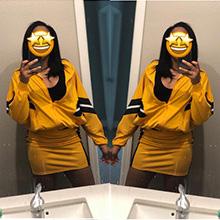 Color:Yellow, Szie:Medium