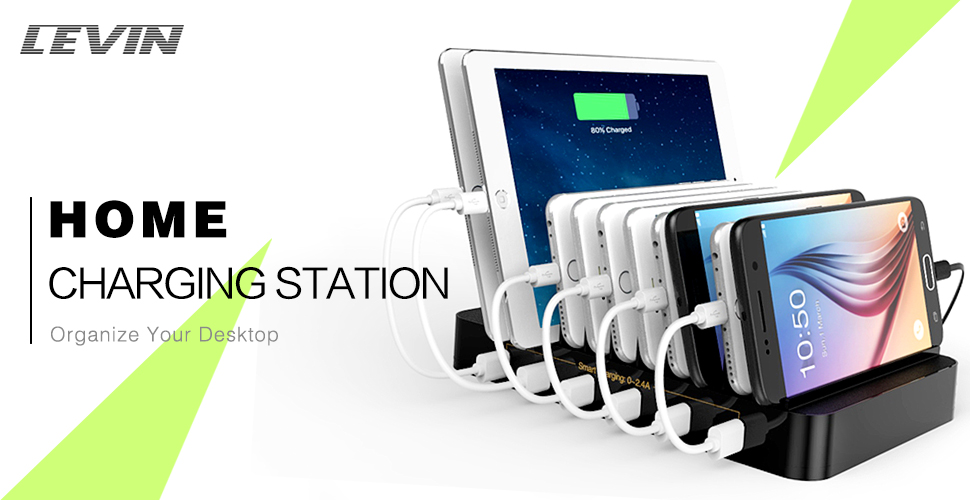 Levin 10 Port Usb Charging Station Dock With