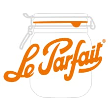 Le Parfait logo preserving whats best glass jar france airtight seal clamp lid canning storage