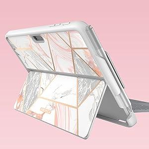Microsoft Surface Go Case i-Blason Cosmo Slim Glitter Protective Bumper Case Cover with Pen Holder