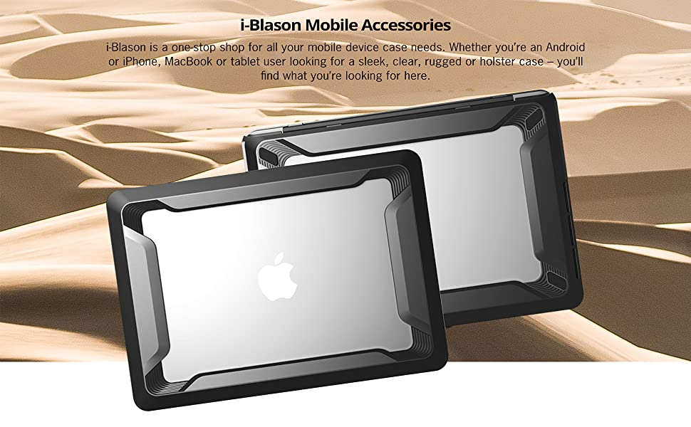 "i-Blason Dual Layer Rubberized Bumper Cover For MacBook Air 13/"" Case 2018 A1932"