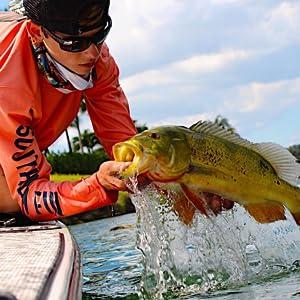 peacock bass fishing shirt
