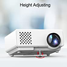 Amazon.com: Proyector, FUNAVO RD-815 1500 Lúmenes LED Mini ...