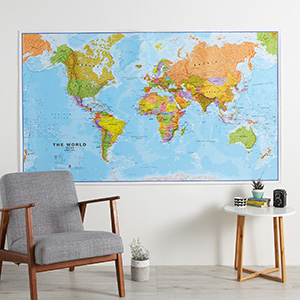 Amazon.com: Maps International - Giant World Map - Mega-Map Of The ...