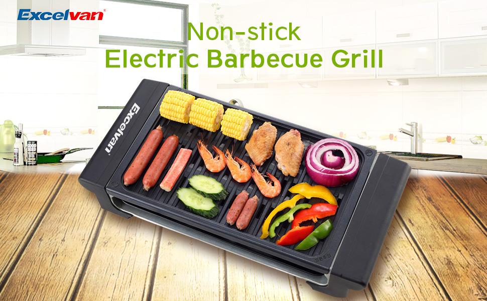Amazon.com: Excelvan Portable 1120W Electric Barbecue Grill ...