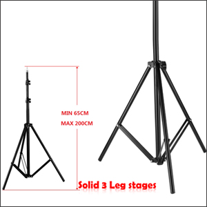 1x support stand10 x 615ft support backdrop up to 10ft in width and extend to max height of 65ft