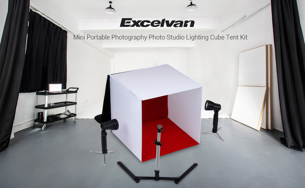 Features Complete Photo Studio Kit