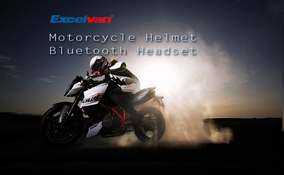 Excelvan 2 Packs BT 1.2KM/0.75MI Wireless Motorcycle Helmet Bluetooth 3.0  Intercom Headset Motorbike Interphone Connect Up To 6 Riders
