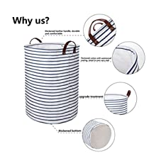 da0fd393f9f0 DOKEHOM 22-Inches Thickened X-Large Laundry Basket with Durable ...