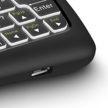 D8 Backlit Mini Wireless Keyboard with Large Touchpad Mouse