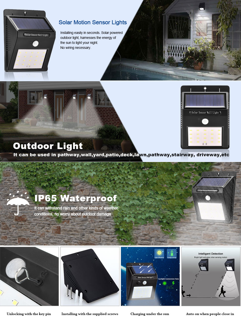 lurico solar lights led wall lights are here to meet your outdoor lighting needs deck lights can now illuminate your garden backyard balcony patio