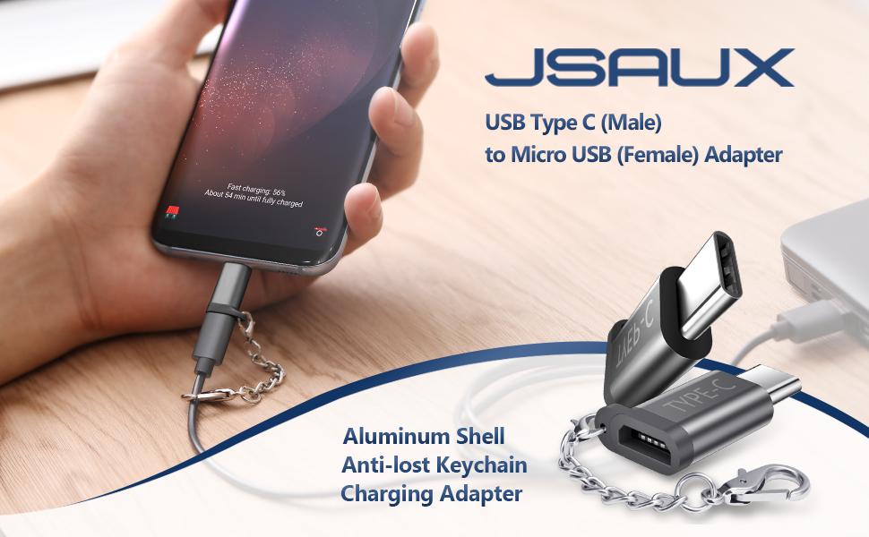 Amazon.com: JSAUX - Adaptador USB tipo C de aluminio, 4 ...