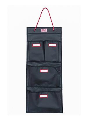 rough enough locker organizer door hanging organizer with name tag label at each pocket black