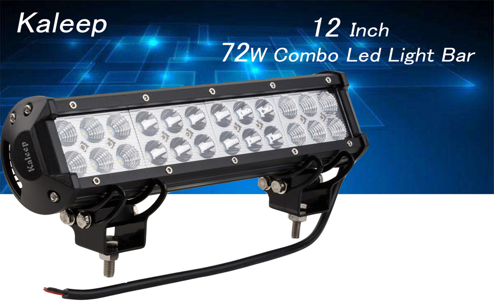 Amazon Com Kaleep 12 Quot 72w Flood Led Work Light Bar Cree