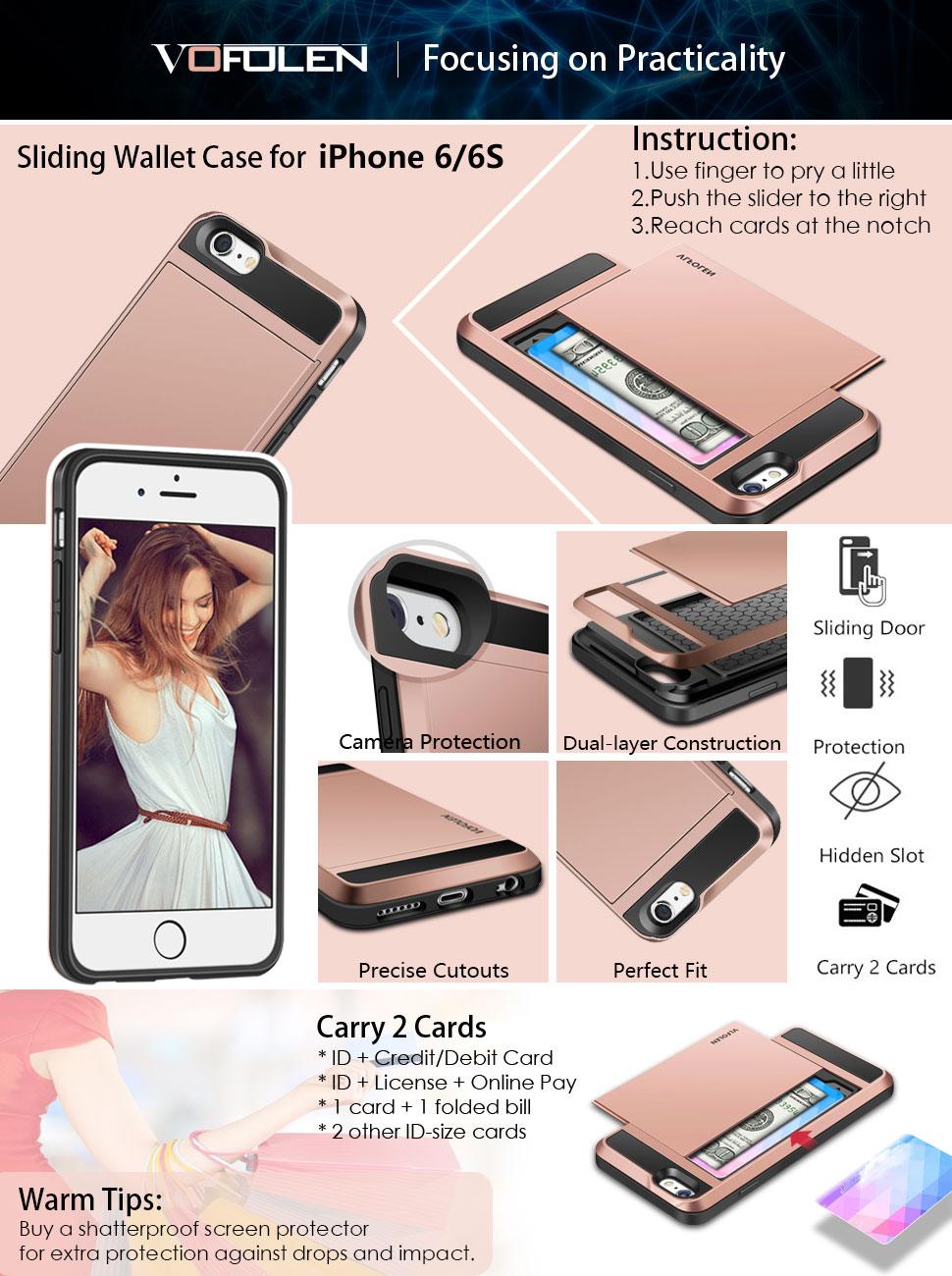 Amazon.com: iPhone 6S Case, Vofolen Impact Resistant Hybrid iPhone 6 ...