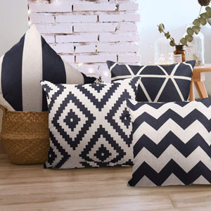 Indoor throw pillow covers