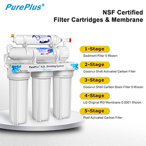 5 Stage Reverse Osmosis Filtration System 80gpd Stable Flow Nsf Certified Ro Drinking Water Purification With Nickel Faucet And Tank Plus Under Sink Replacement Home Filters For Half Year Use Amazon Com Industrial