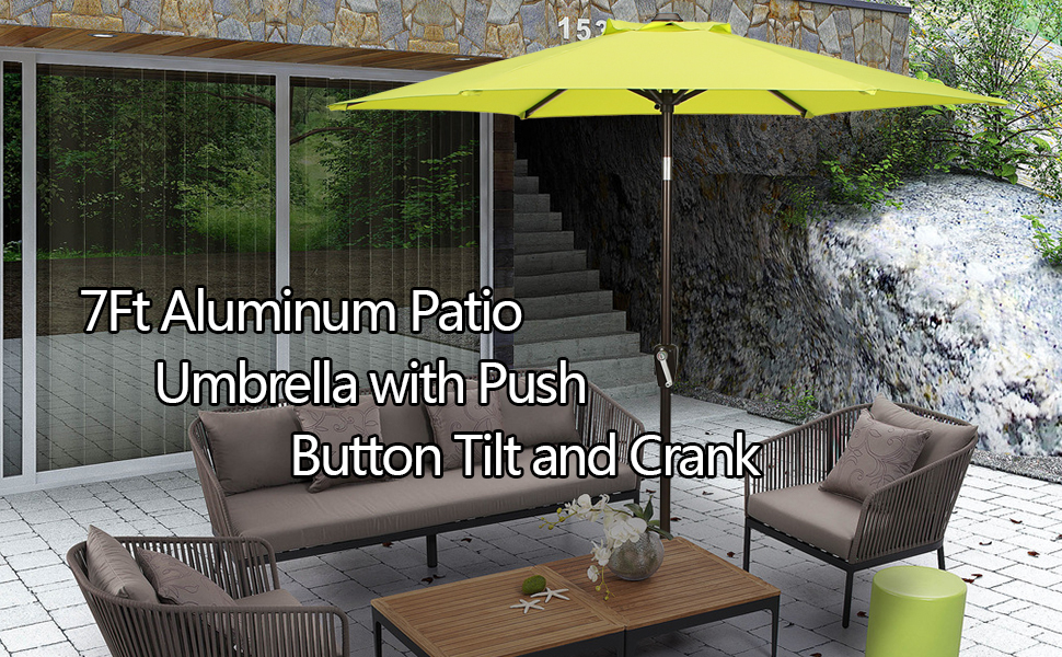 Beautiful 7u0027 Patio Umbrellas To Enjoy Cool Breeze!