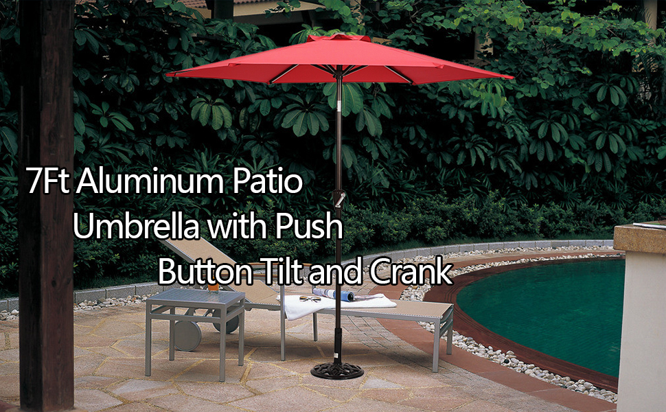 Delightful Beautiful 7u0027 Patio Umbrellas To Enjoy Cool Breeze! Awesome Ideas