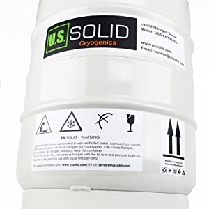 U S Solid 20 L Cryogenic Container Liquid Nitrogen Ln2