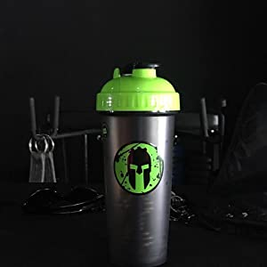 green spartan shaker blender bottle cup workout fitness race pre peforma perfecrt protein