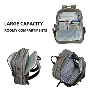 KROSER Laptop Backpack | Large Capacity & Roomy Compartments