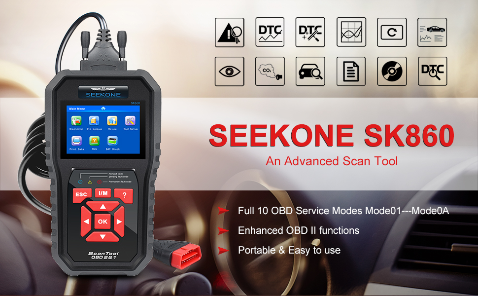 Amazon Com Seekone Obd2 Scanner Professional Car Obd Ii