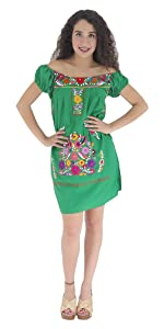 513ce58cded ... Mexican Dress Sleeveless Tehuacan Poplin · Mexican Dress Long Sleeve  Tehuacan Manta · Mexican Dress Traditional Strap-Strapless Sundress M CT ...