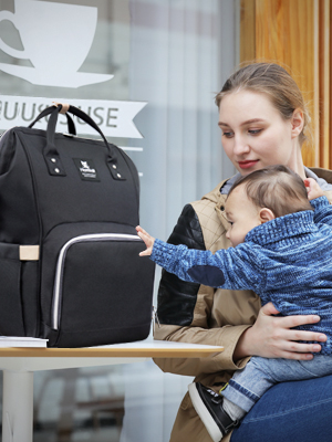 Hafmall Large Capacity Diaper Backpack for Baby Care