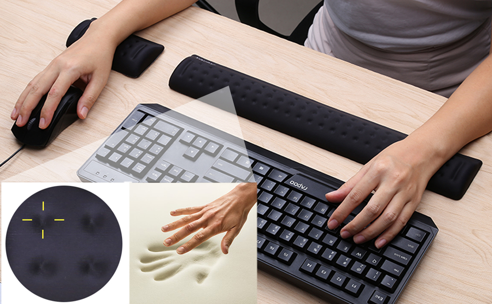 Amazon.com : Aelfox Memory Foam Keyboard Wrist Rest&Gaming