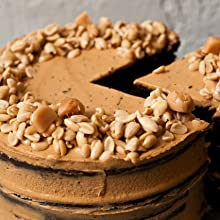 Peanut Cheesecake with Peanut-Topped Crust