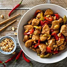 Kung Pao Chicken with a Peanut Side-Dish