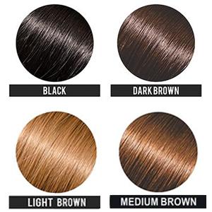 black hair fibers, dark brown hair fibers, light borwn hair fibers, medium brown hair fibers